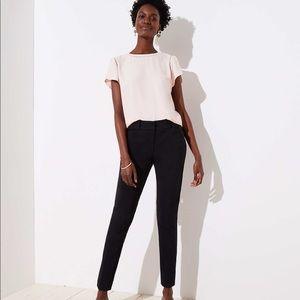 LOFT Petite Marisa Skinny Black Dress Pants